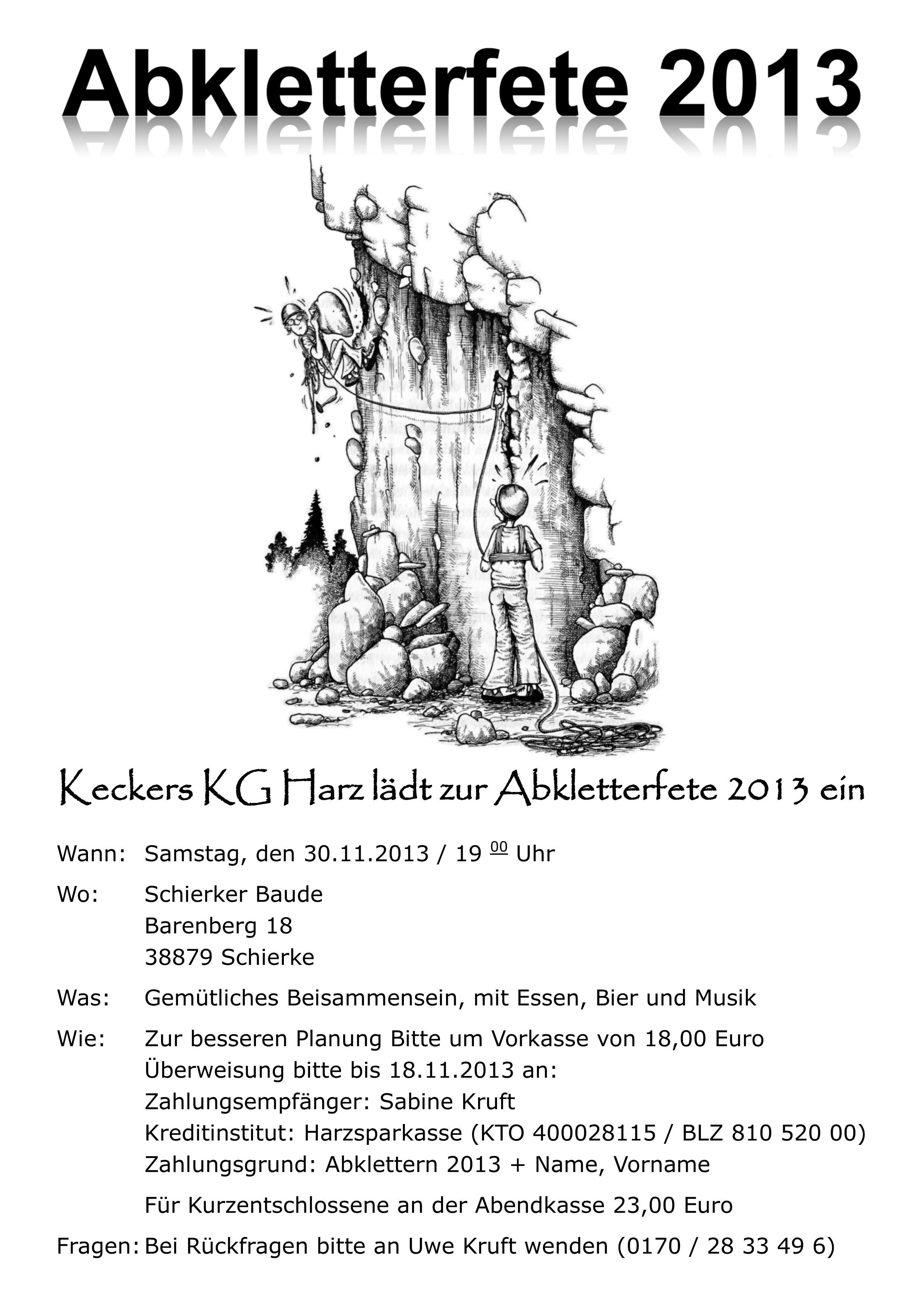 draußen | klettern in magdeburg | page 4, Einladungen